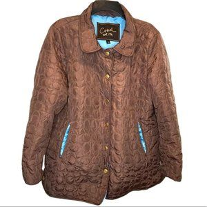 Vintage Coach Quilted Signature Jacket
